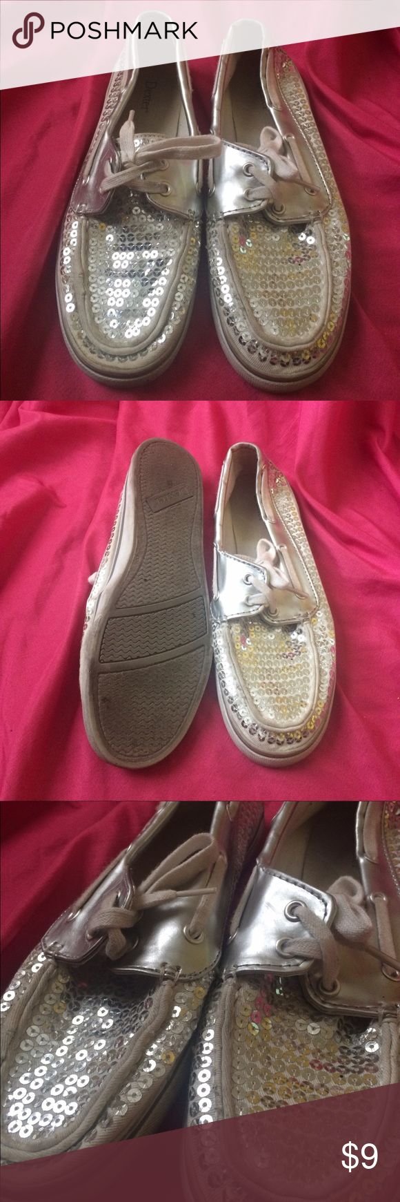 Sparkle shoes!! Gently worn...NO TRADES...OFFERS WELCOMED!! Dexter Shoes Moccasins
