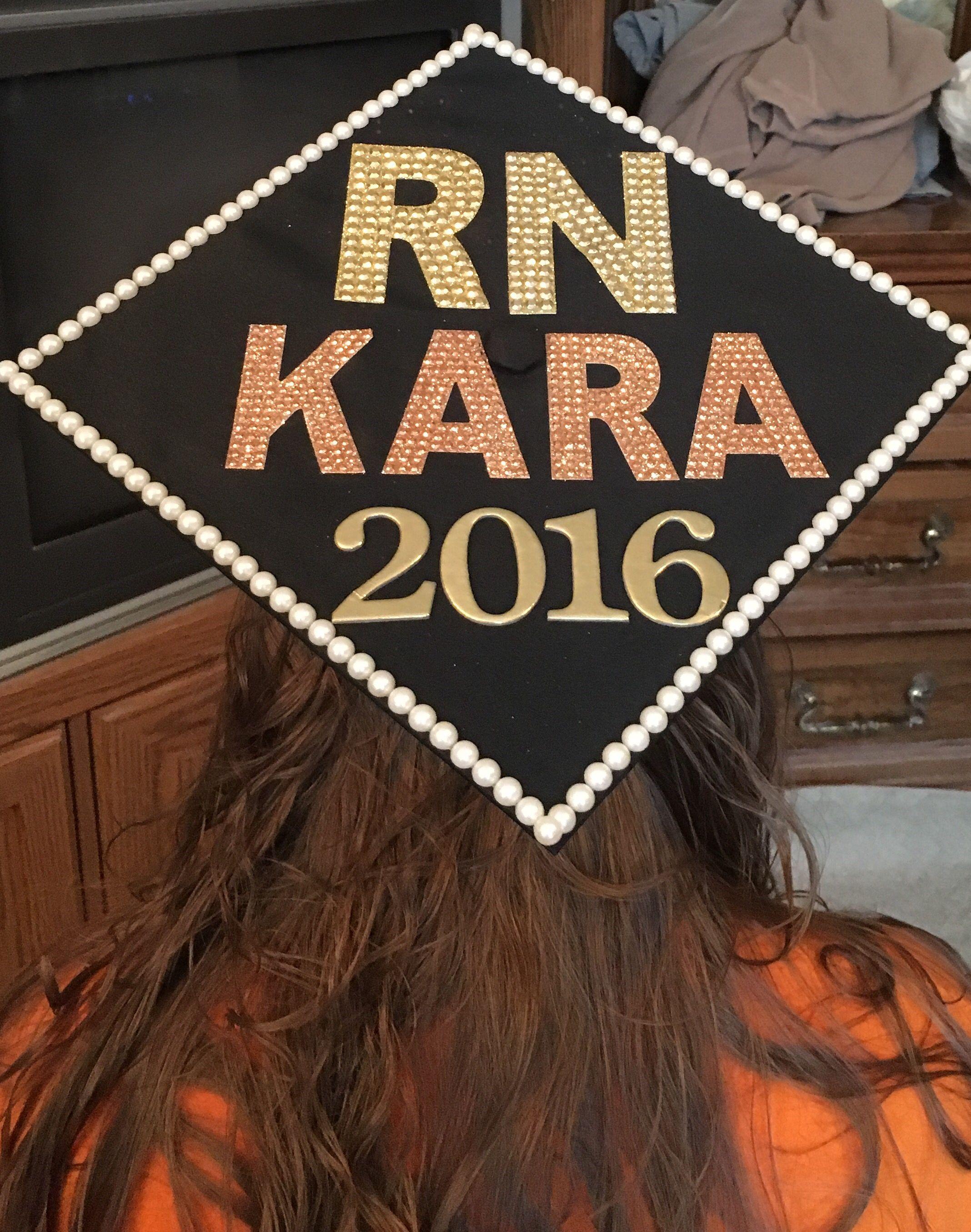 Graduation hat, nursing, RN, RN graduation, registered nurse