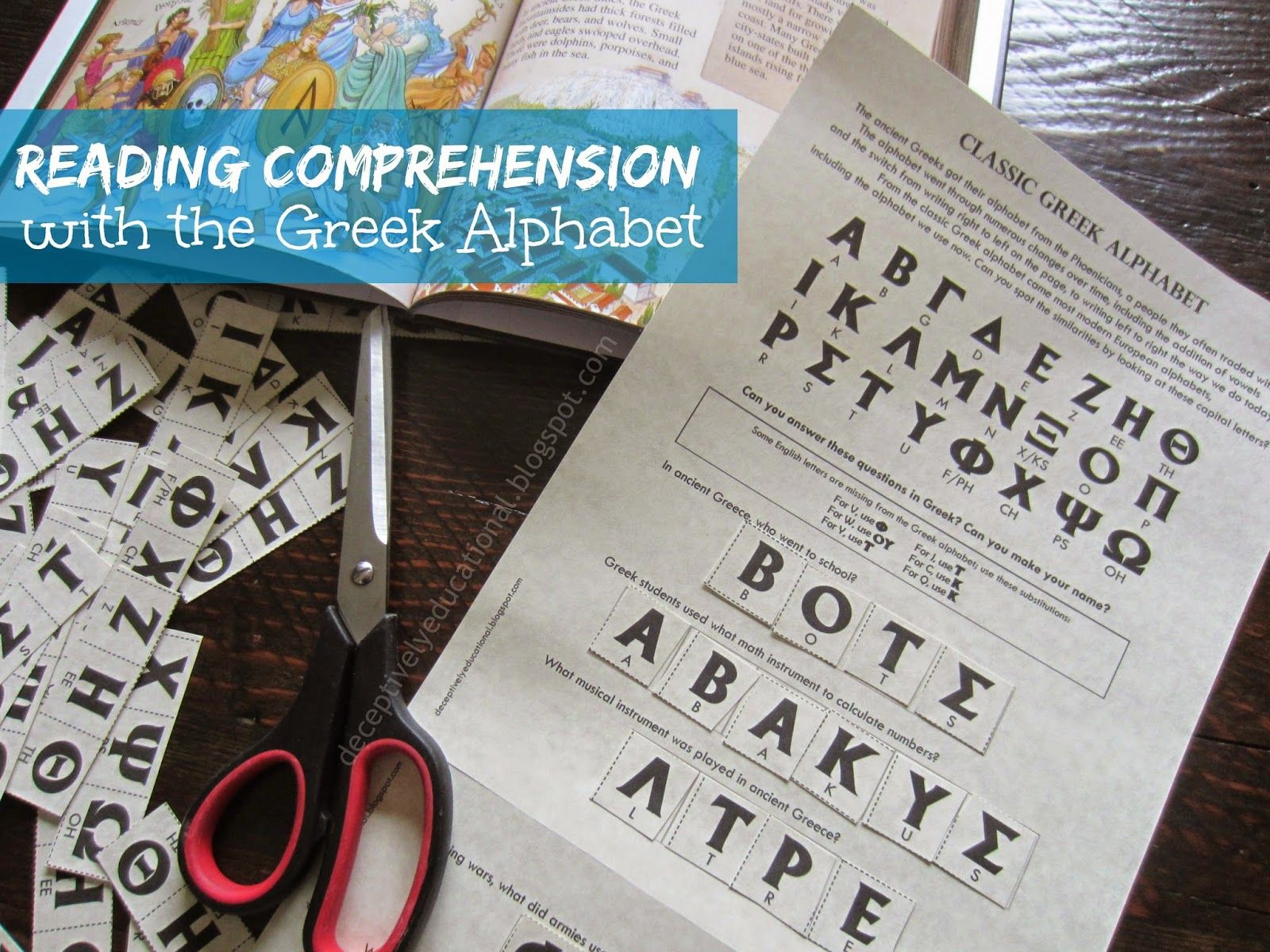 Relentlessly Fun Deceptively Educational Reading Comprehension With The Greek Alphabet Free