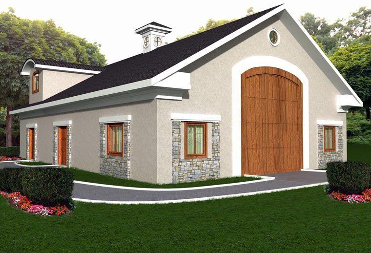 Mediterranean Garage Plan 85379 Garage Apartment Plan Garage Plans Garage With Living Quarters