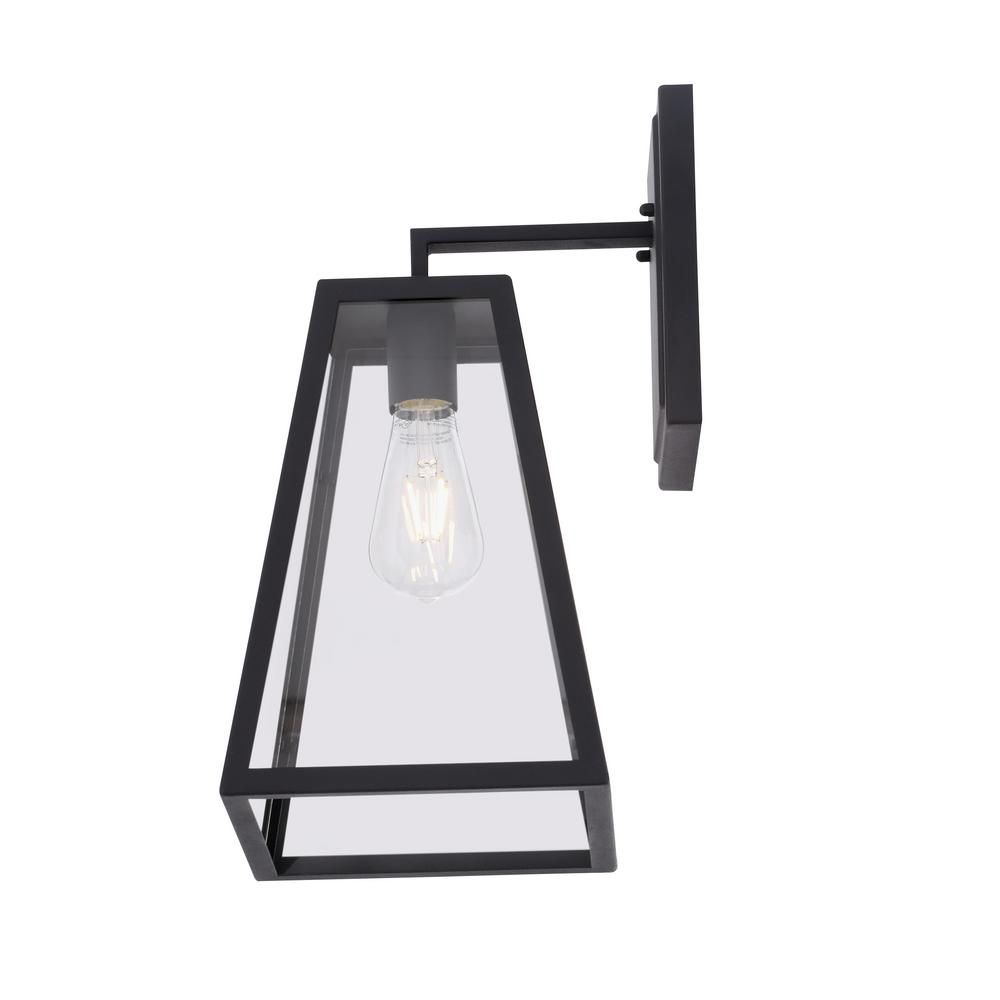 Home Decorators Collection Colonade Collection 1 Light Sand Black Large Outdoor Wall Mount Sconce With C Outdoor Wall Lantern Wall Mounted Sconce Outdoor Walls