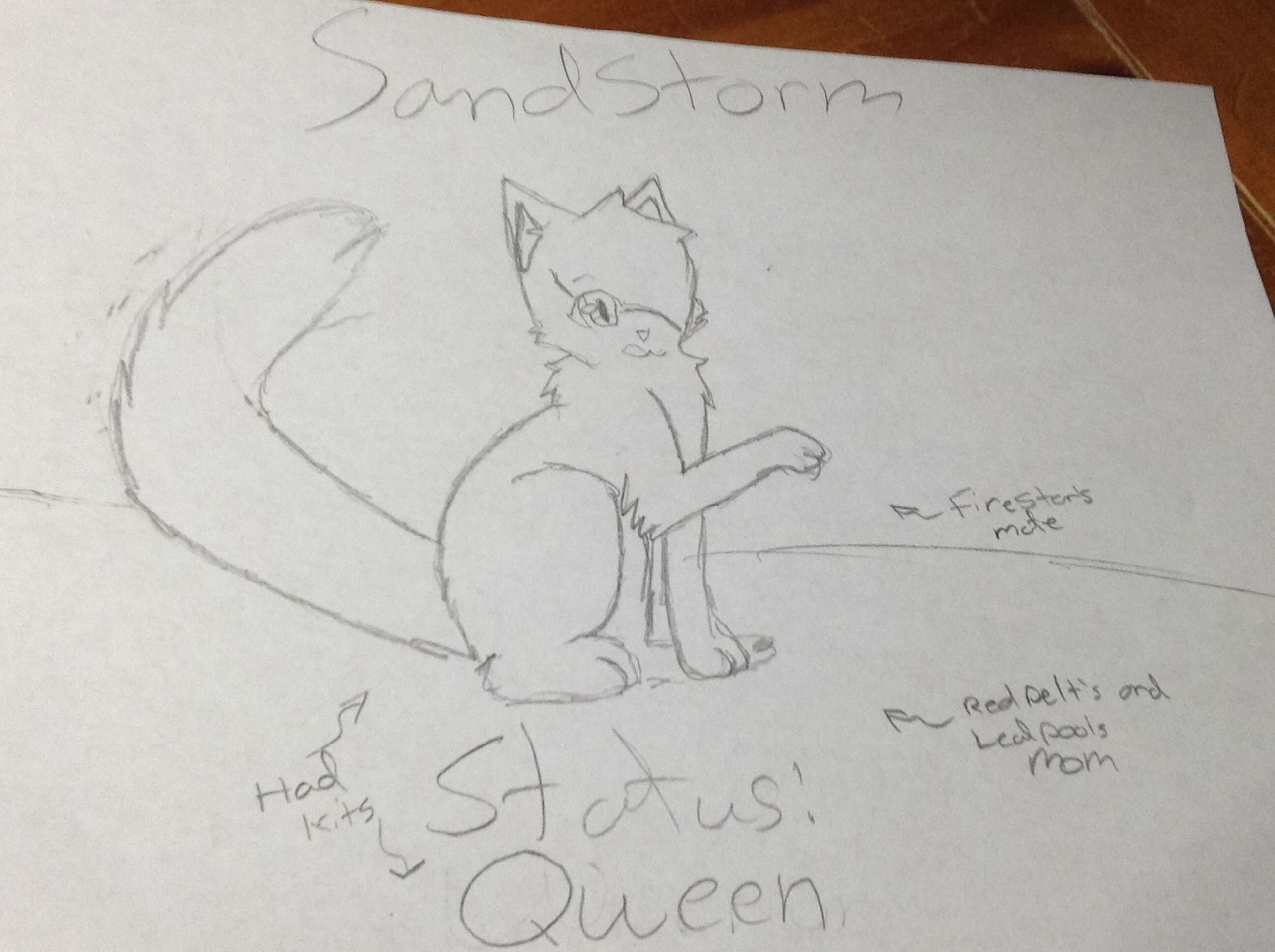 This Is Sandstorm She Is Firestar S Mate And Redpelt S And