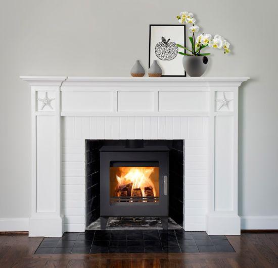 Ledgestone 55 Mantel Led Electric Fireplace White In 2020 Faux