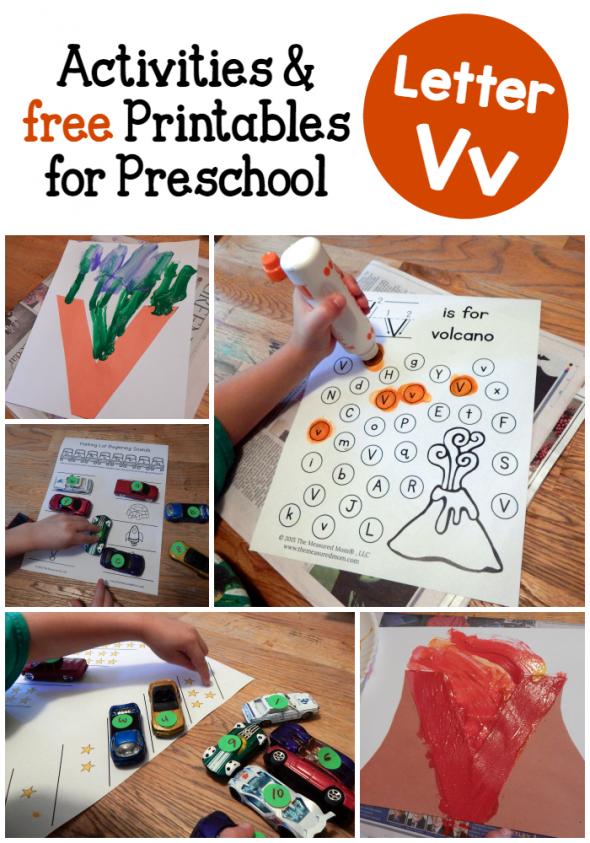 Letter V Activities for preschool Preschool letters