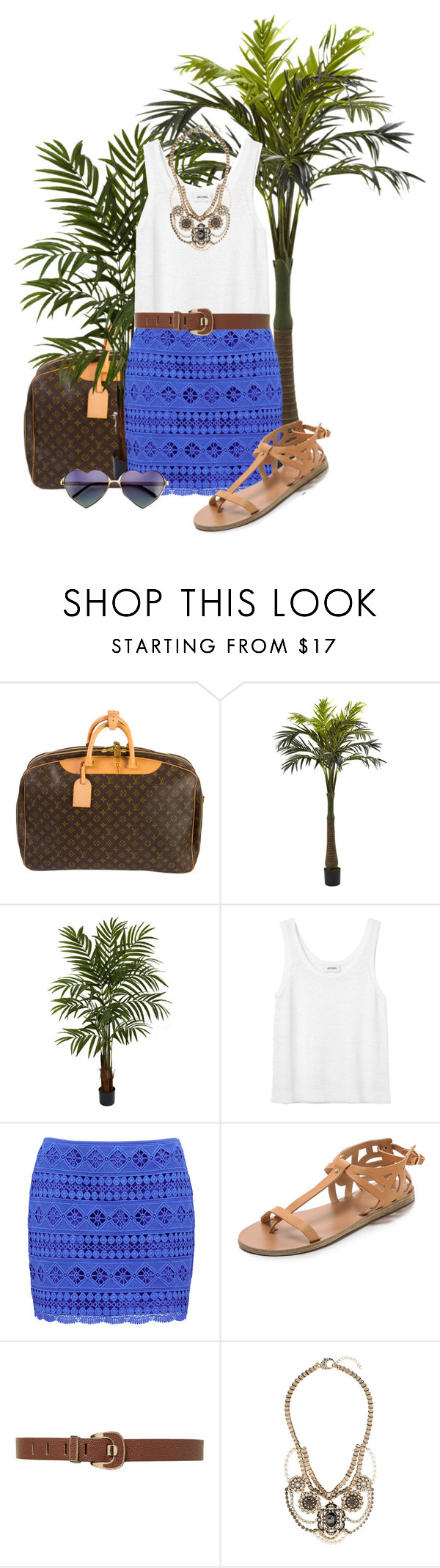 """Tropical Vacation"" by brebrz8 ❤ liked on Polyvore featuring Louis Vuitton, Nearly Natural, Monki, Forever New, Ancient Greek Sandals, Martine Wester, Wildfox, contest and TropicalVacation"