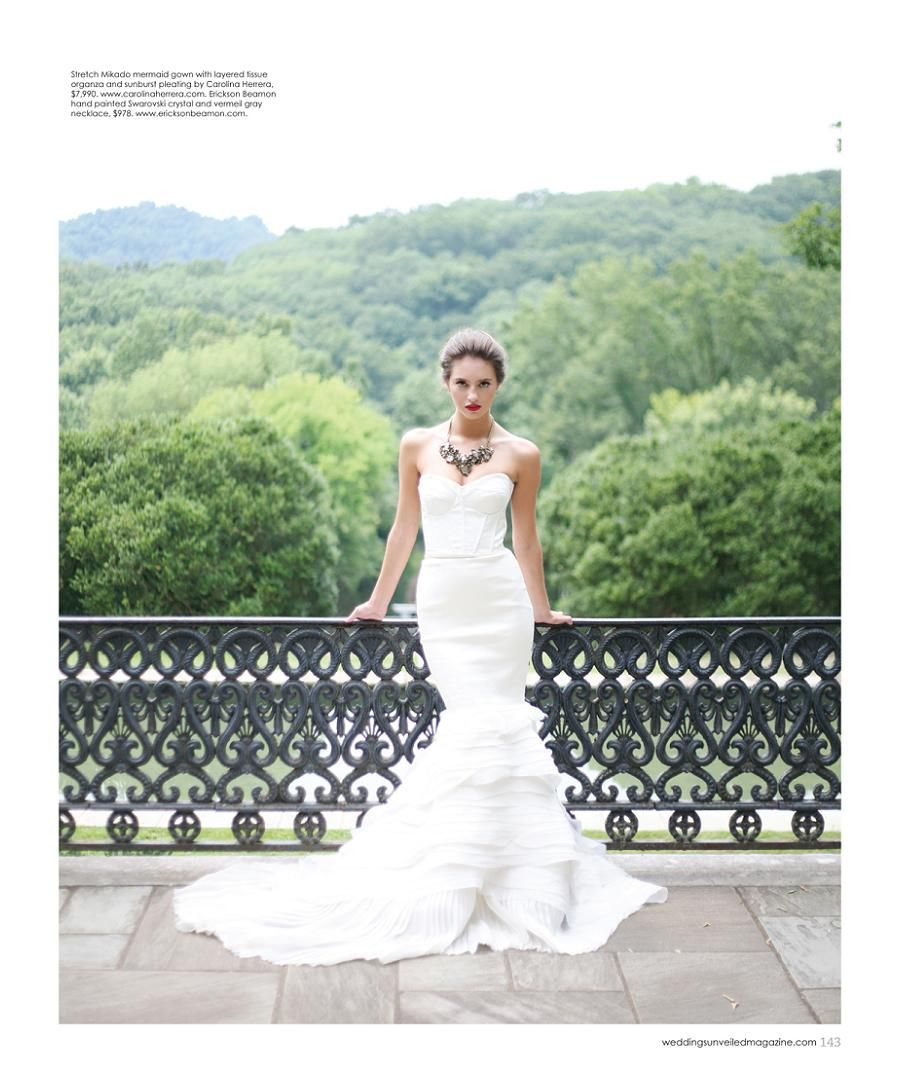 Wedding Hairstyle Nashville: Dress By Carolina Herrera, Necklace By Erickson Beamon