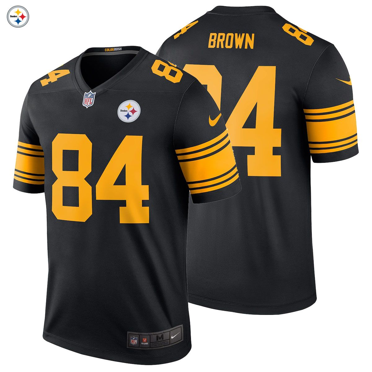 NEW 2018 NFL Antonio Brown Nike Color Rush Legend Jersey Pittsburgh  Steelers NWT  84 The New Color Rush Edition Is HERE!!!! Gear up for the new  2018 19 NFL ... 8965cc2a6