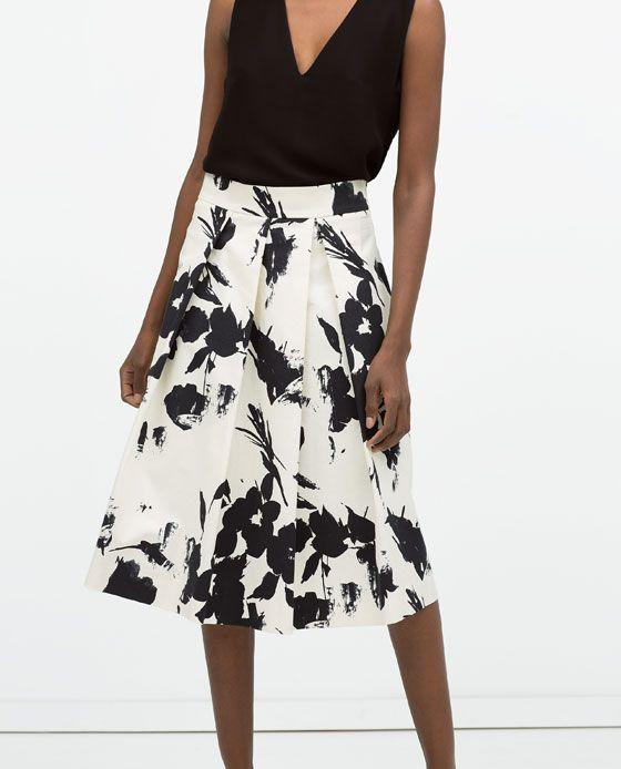 f2fd5c9a Image 2 of FLORAL PRINT PLEATED SKIRT from Zara | Clothes | Floral ...