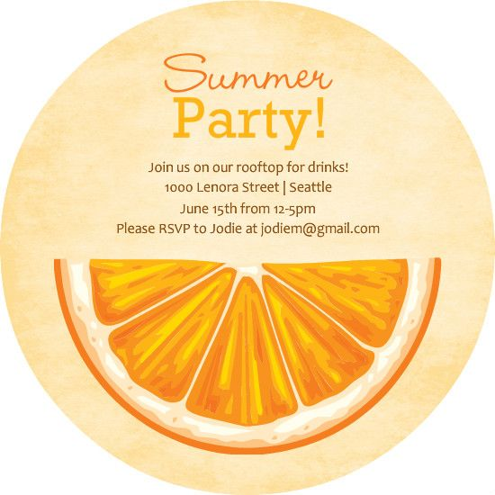 I like the look of this orange not half though full circle slice explore invitation wording invitation design and more stopboris Choice Image