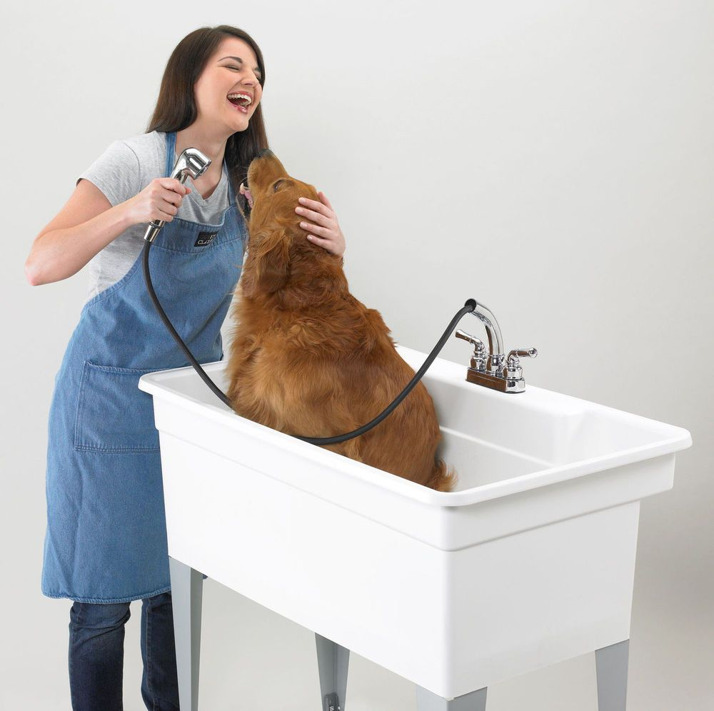 Large Dog Bath Utility Tub 40 X 24 Floor Standing 36 Gal Pet
