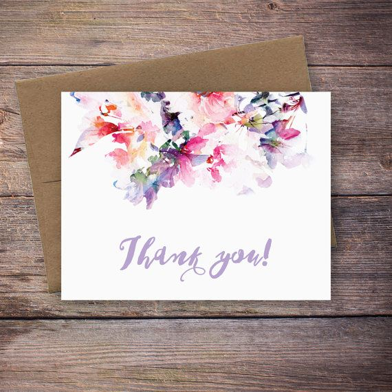 Printable Thank You Card Instant Download by LarissaKayDesigns