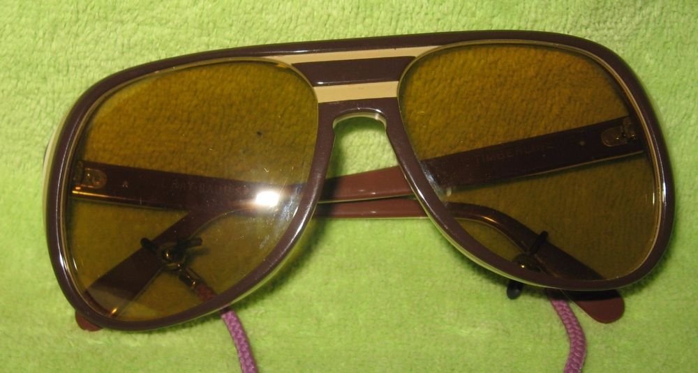 fcf3bb204ff8c8 Vintage B L Ray-Ban TIMBERLINE Yellow Ambermatic Brown Aviator Sunglasses  USA  RayBan  Aviator