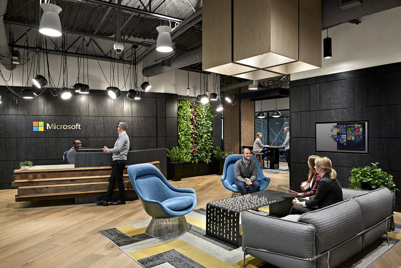 Reception area from microsoft39s offices in nashville for Interior design office nashville