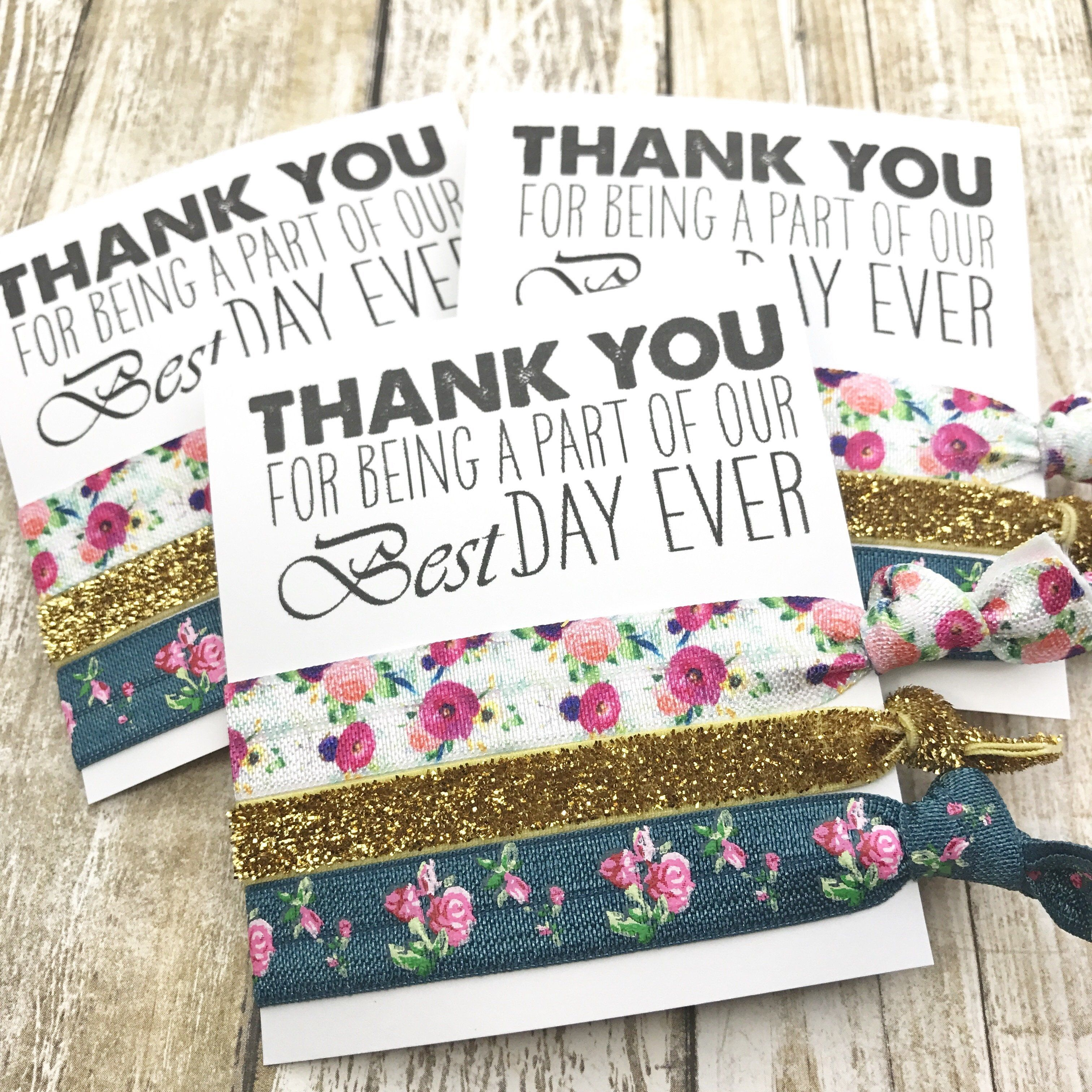 THANK YOU for being a part of our Best Day Ever Wedding Favors | To ...