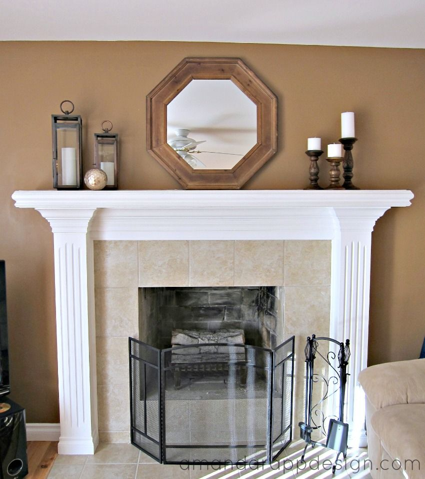 Fireplace Mantel With Lanterns Google Search Home
