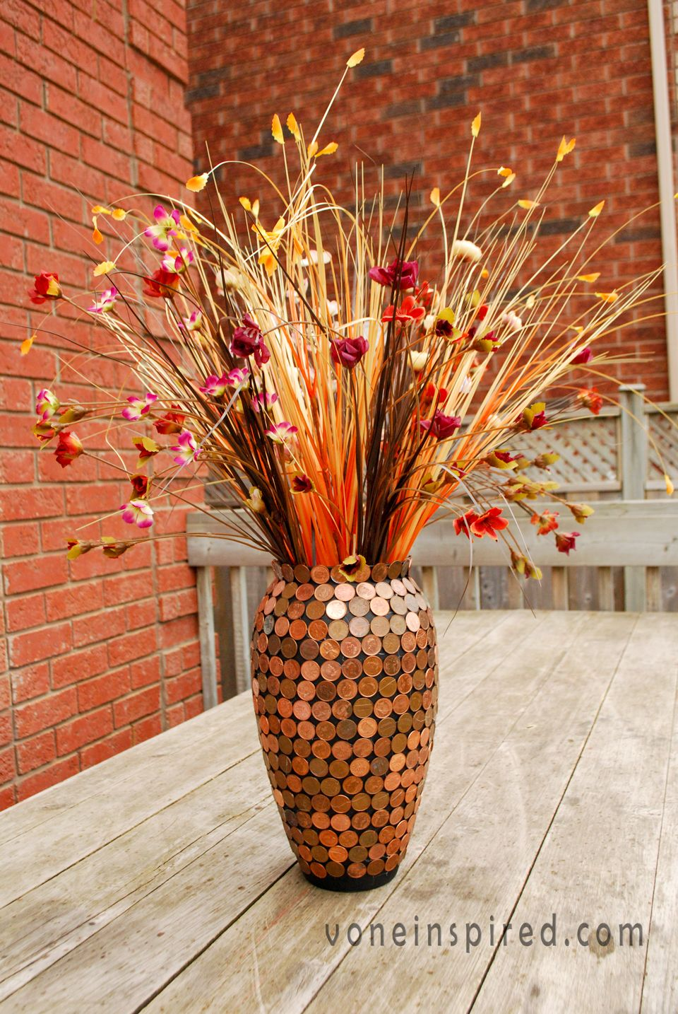 Diy Lucky Penny Vase Upcycled W Copper S