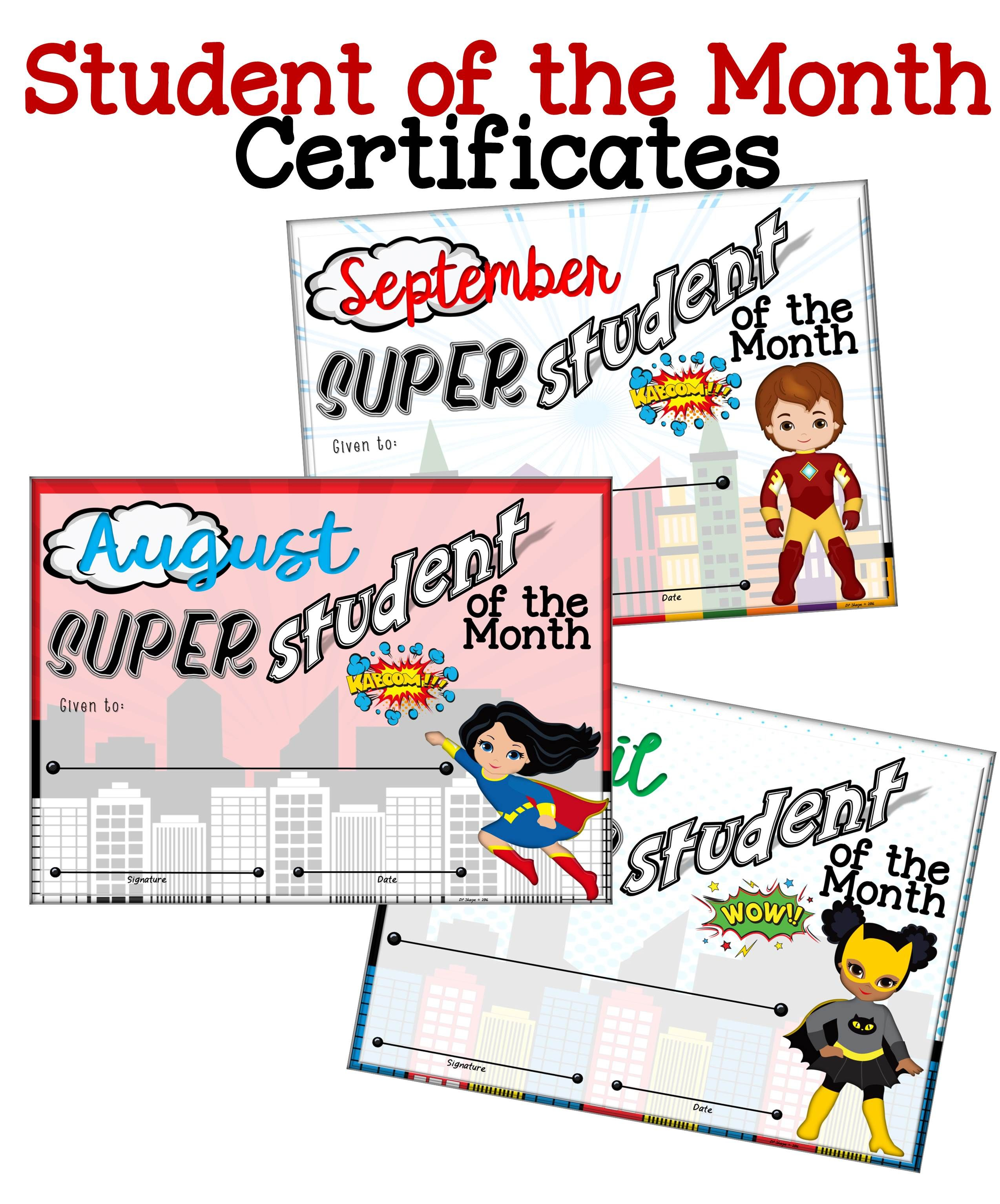 Super student of the month certificates students teaching ideas super student of the month certificates 1betcityfo Image collections