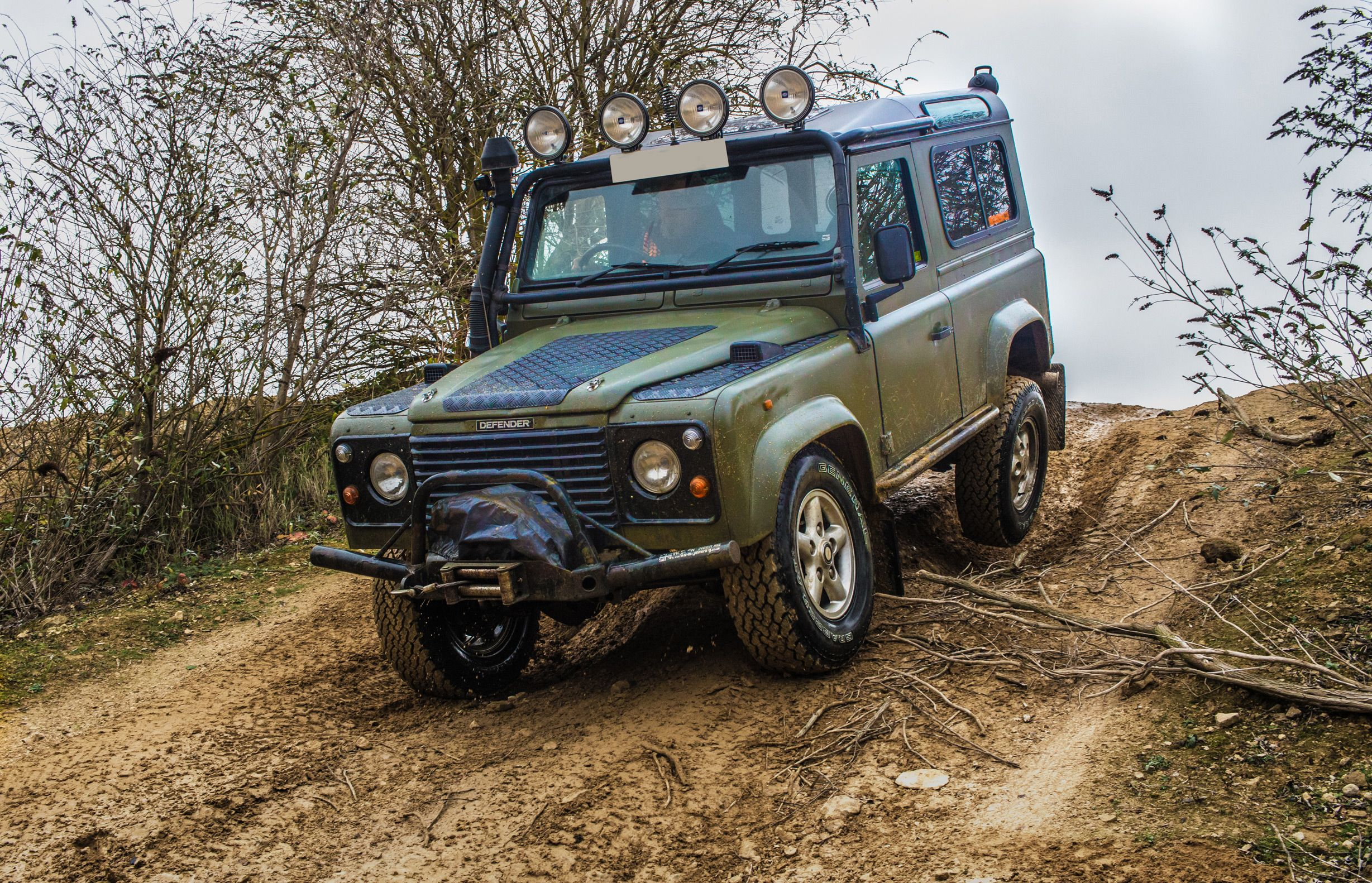 Nato Green Land Rover 90  Yarwell quarry  | Land Rovers