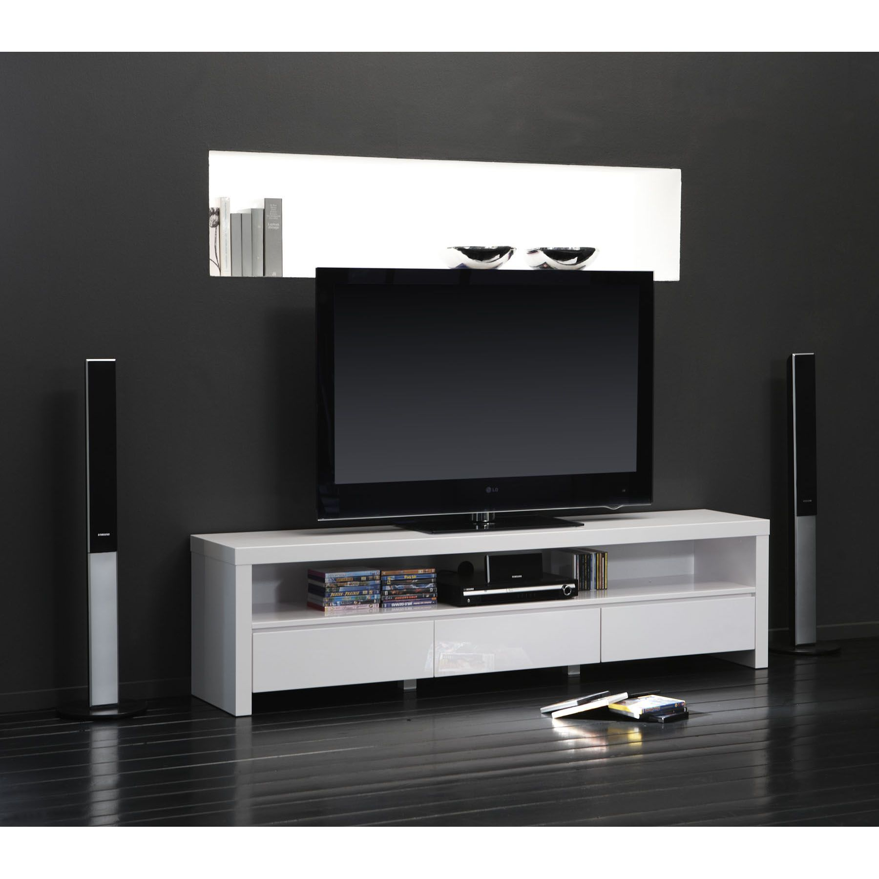 Meuble Tv Home Cin Ma Mon Salon Livebox Play Pinterest  # Meuble Tv Homecinema