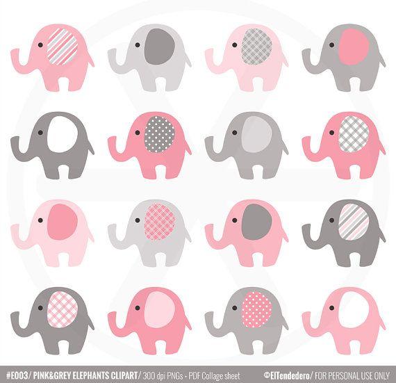 Clipart de elefantes rosas y grises para utilizar por - Fotos de elefantes bebes ...