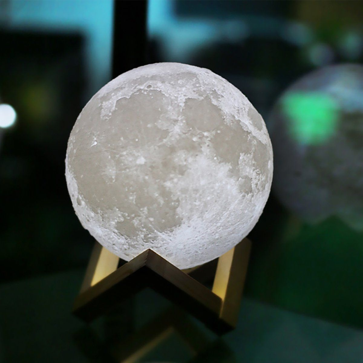 Amazon Com Moon Light Lamp Luna Moon Lamp Modern Home 3d Printing Lamp Warm Yellow Cool White Double Swi Night Light Nursery Night Light Bottle Table Lamps