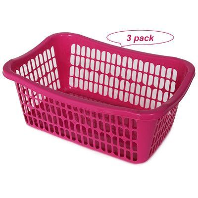 Pink Plastic Laundry Basket Alluring Ybm Home Plastic Laundry Basket Color P  Products  Pinterest Design Inspiration