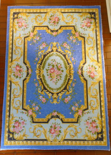 Beautiful Victorian Rose Floral French Swirls Dollhouse 1//12 Miniature Rug