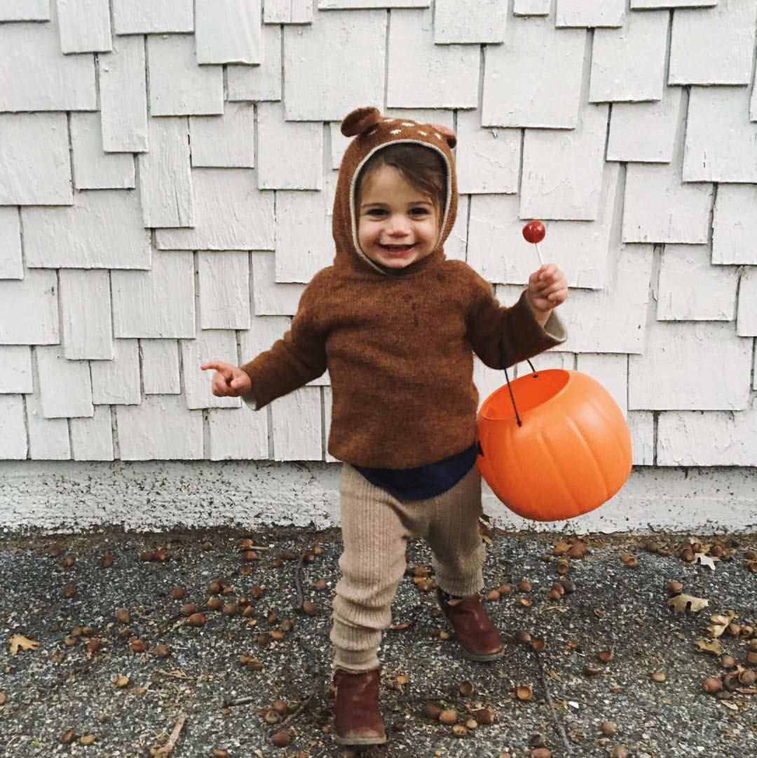 """Elle Rowley on Instagram: """"""""Fawning"""" over this little trick-or-treater. Happy Halloween! """""""