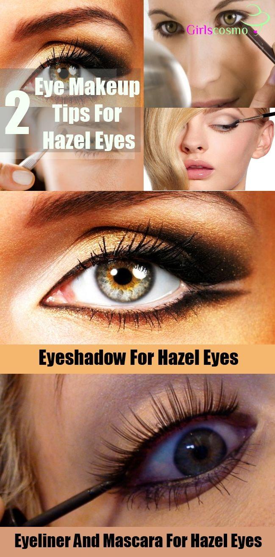 2 ways to do eye makeup for hazel eyes | make up | pinterest