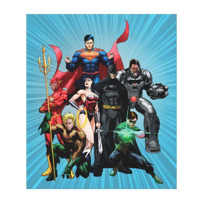 Justice League  Group 2 Canvas Print