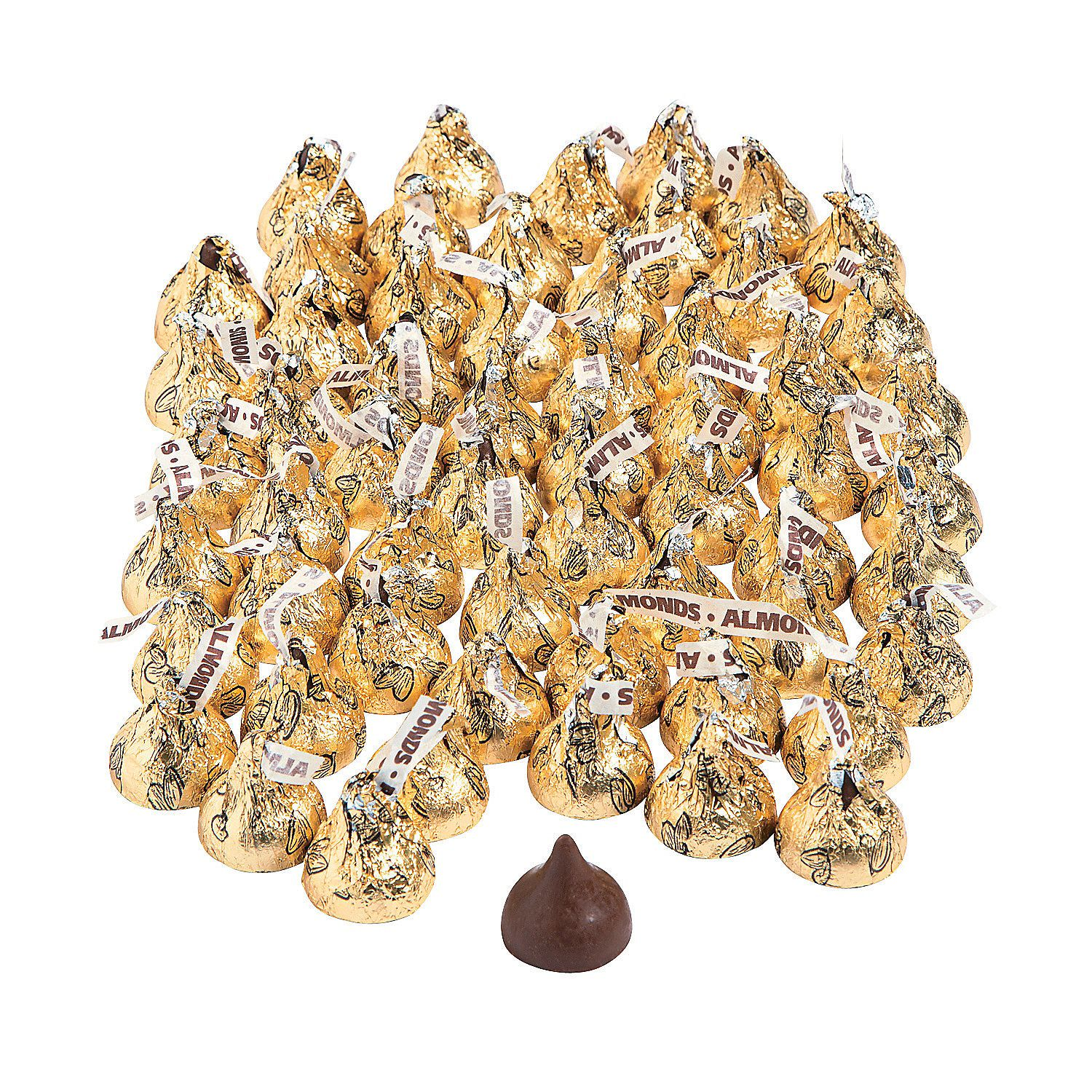 Hershey S Kisses 400 Pc Gold Almond Chocolate Candy