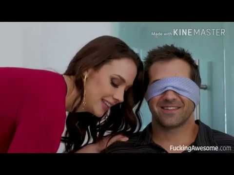 Beautiful Wife Ties Up And Blindfolds Her Husband Before Introducing