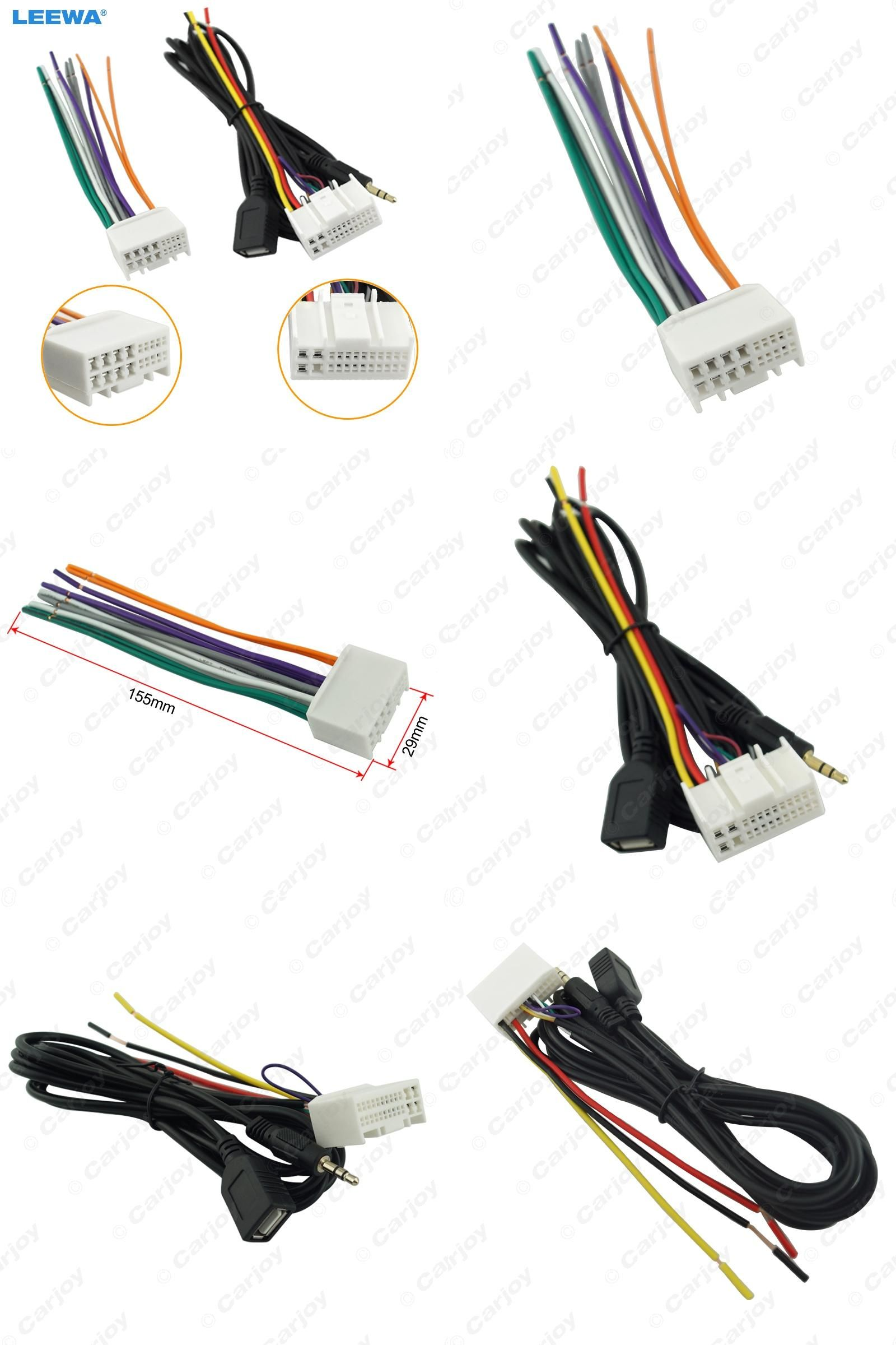 65bba15fb3a8d9bc4f1b698bf8827601 visit to buy] car audio cd stereo wiring harness adapter with usb Car Radio Wiring Harness Diagram at crackthecode.co