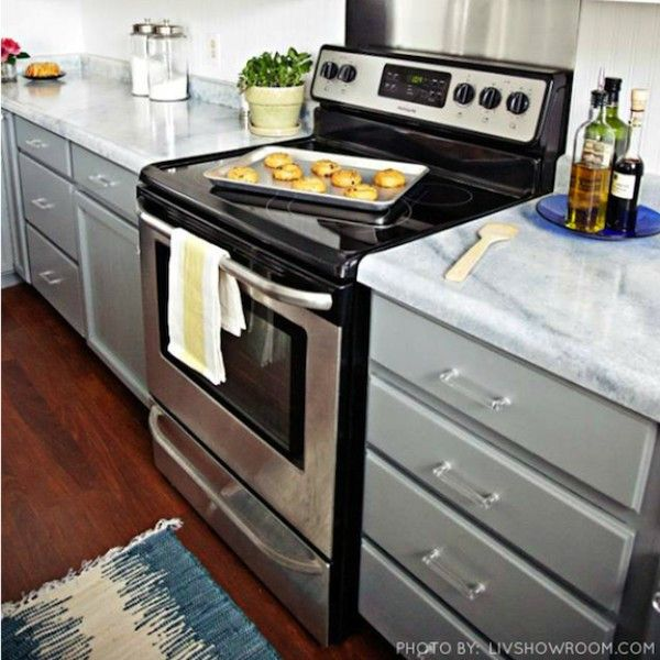 """Kitchen Cabinets Painting Kits: """"Slate Modern"""" Nuvo Cabinet Paint"""
