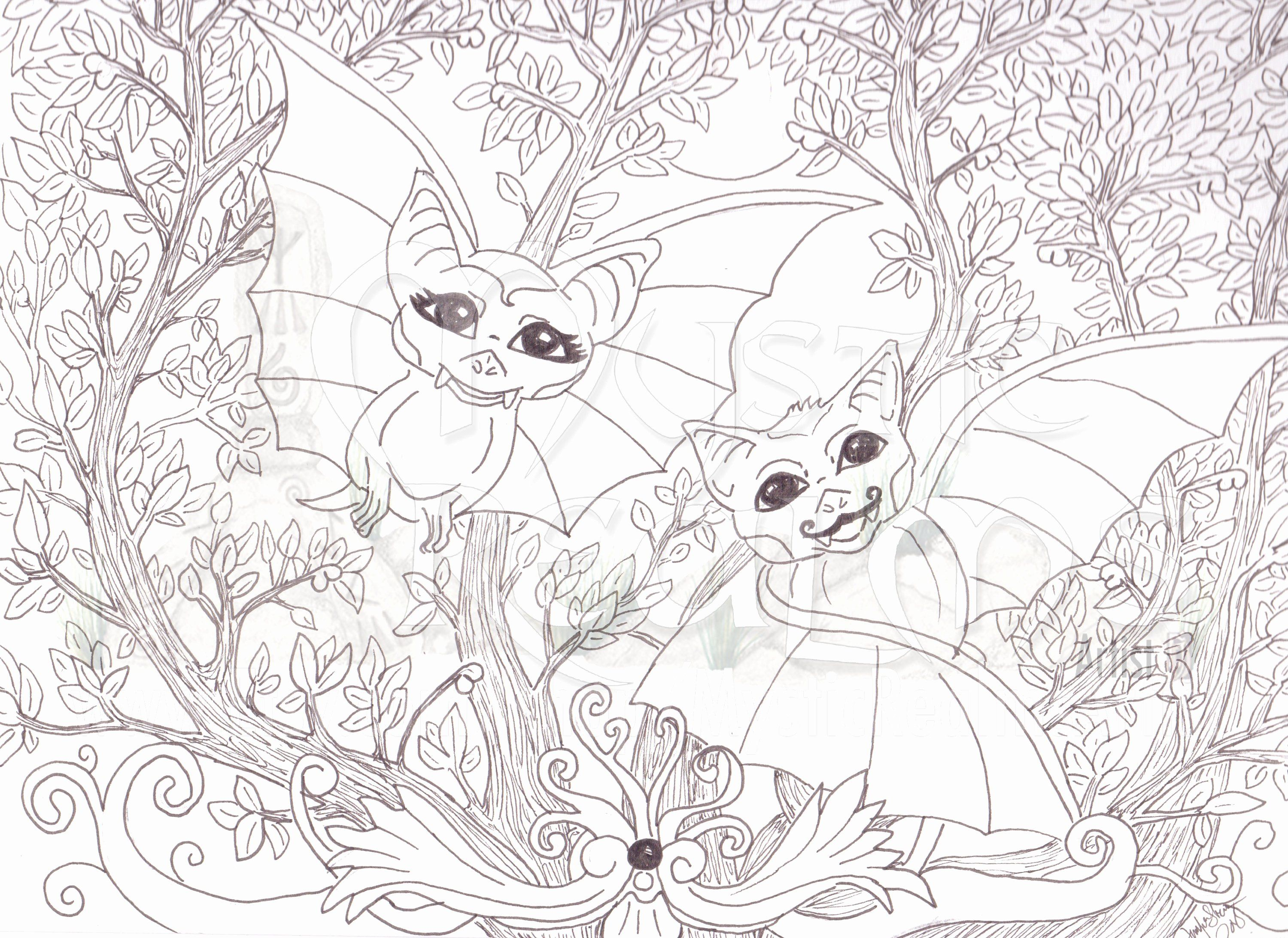 - Woodland Animals Coloring Page