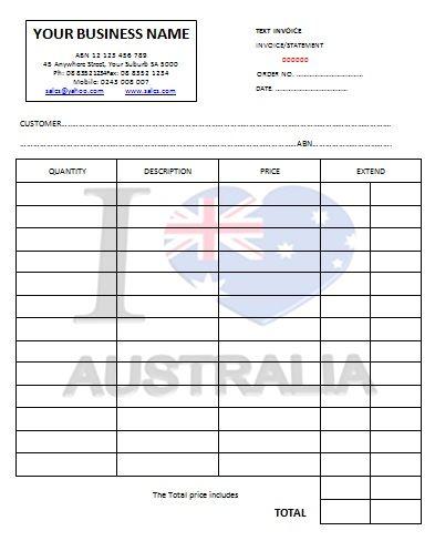 Australian Tax Invoice   Austrialian Tax Invoice Templates