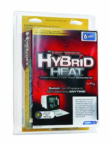 Camco 11673 Hot Water Hybrid Heat Kit 6 Gallon Gas Water Heater Camco Hot Water Heater