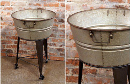 We Re Taking You On A Little Trip Through Time With This Old Fashioned Wash Tub The Concept Of The Wash Tub Galvanized Wash Tub Wash Tubs Rustic Vintage Decor