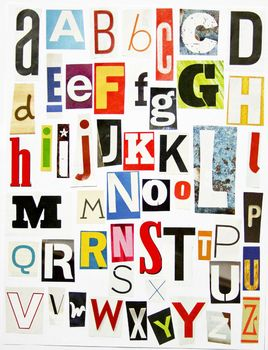 Printable Magazine Letters Alphabet A Z: Word Work, Spelling