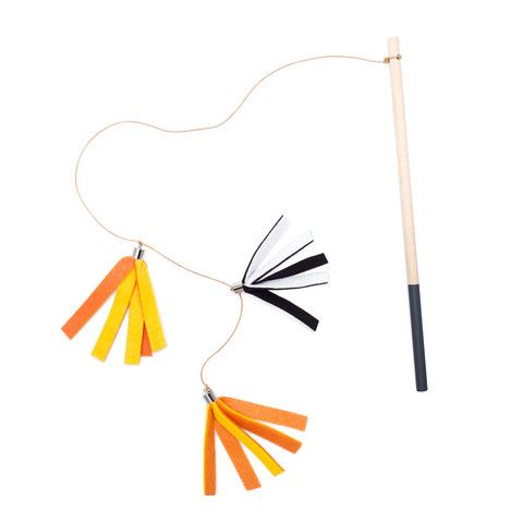 Tabby Tassel Tamer - Orange