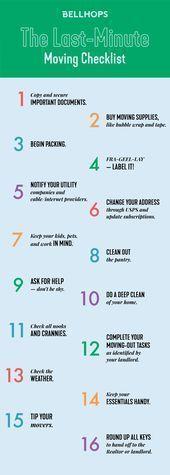 Last Minute Moving Checklist :  Last Minute Moving Checklist , Head to our blog ...#blog #checklist #minute #moving