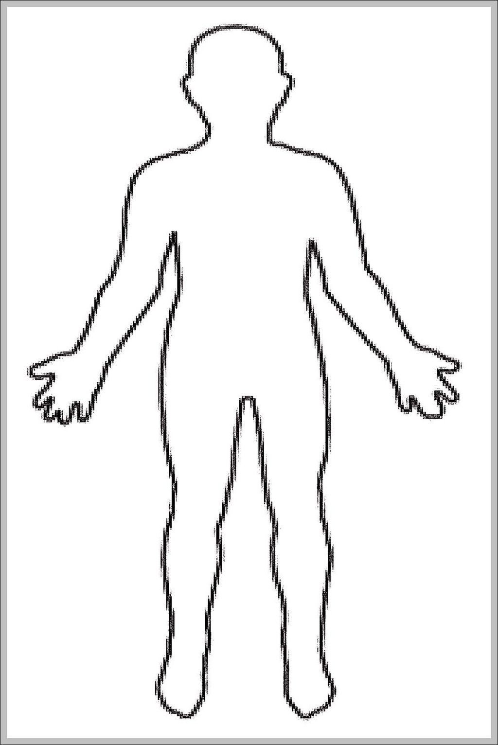 Blank Human Body Diagram   Blank Human Body Diagram