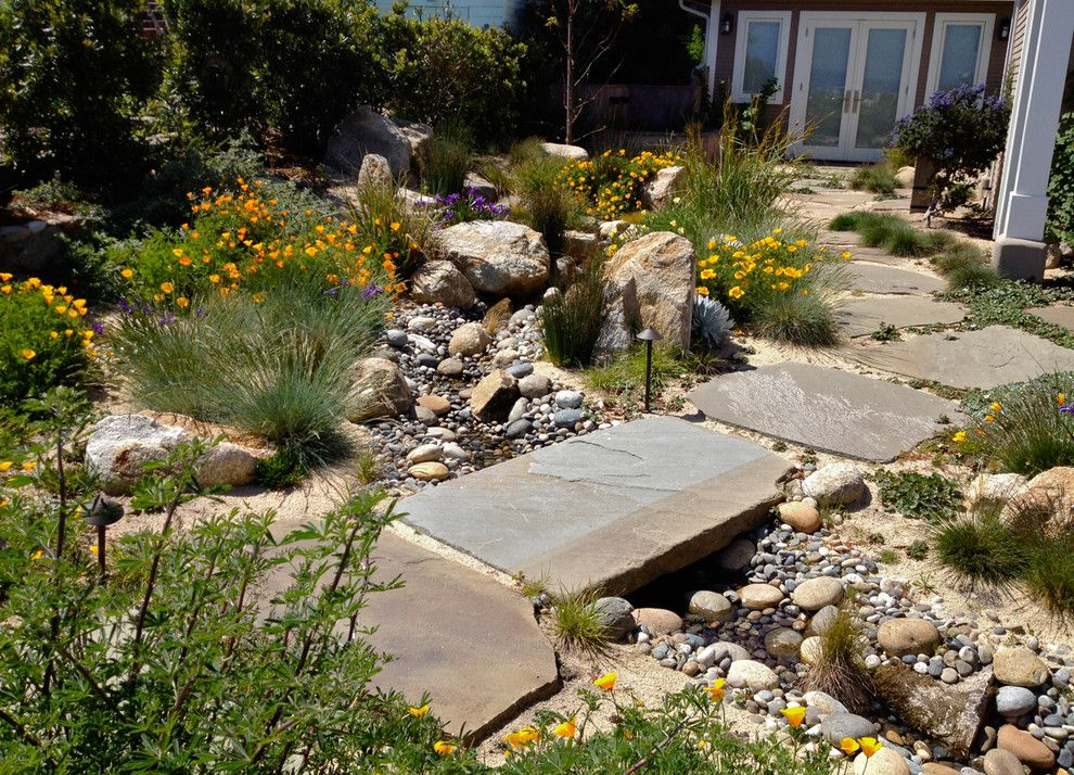 dry riverbed landscape photos wonderful landscaping with river rock ideas for landscape contemporary