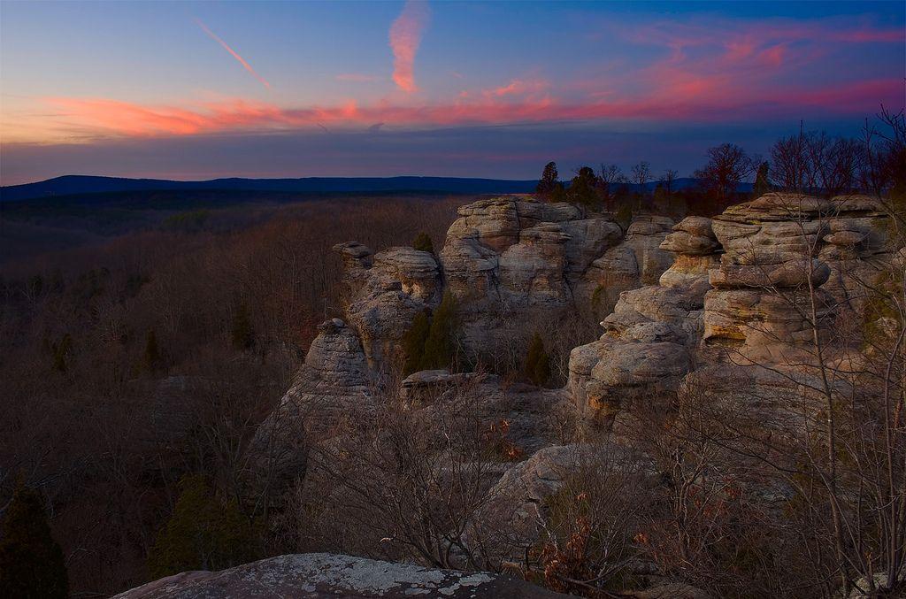 Twilight at Garden of the Gods Illinois Shawnee national