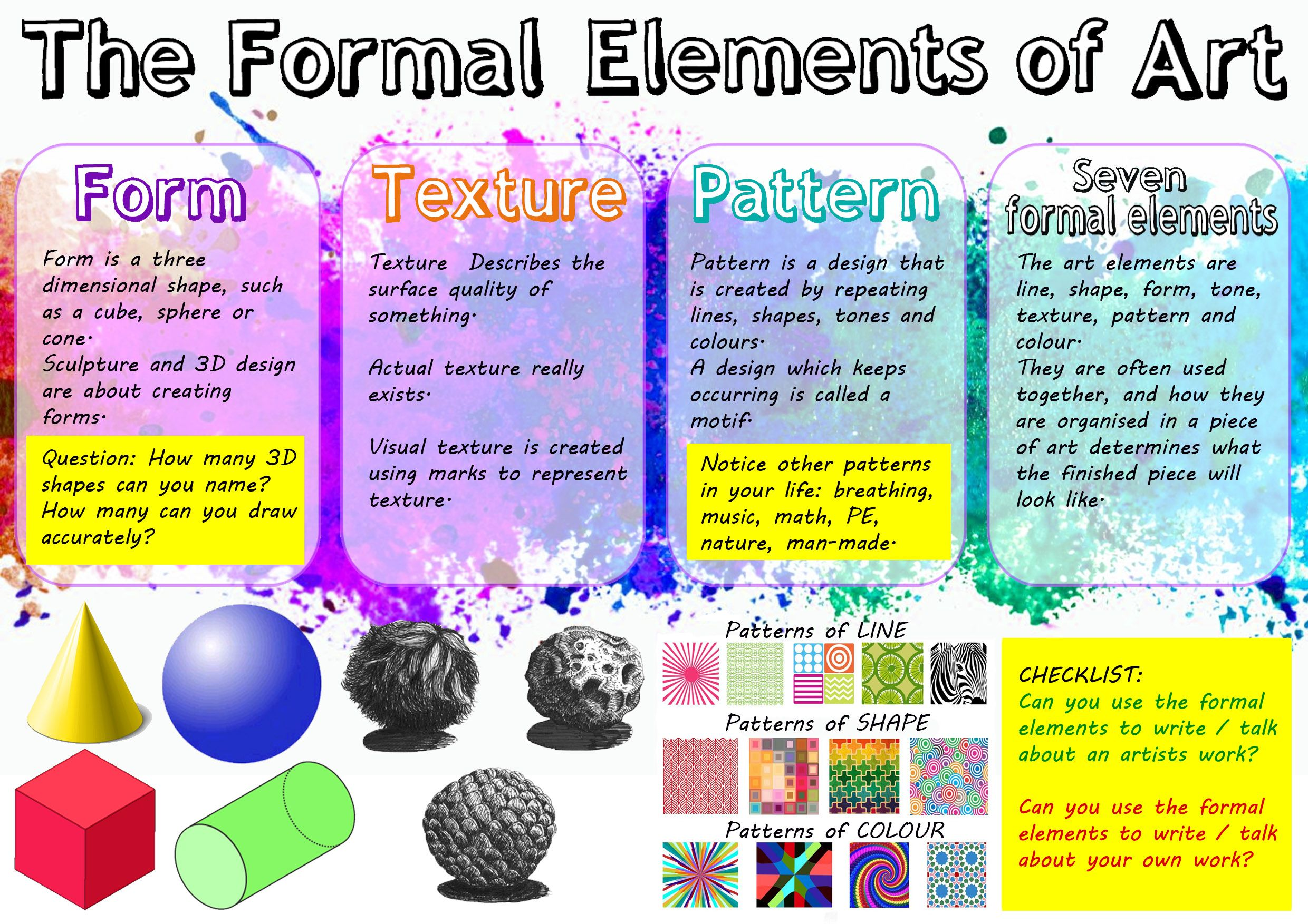 Art Formal Elements Worksheet 2