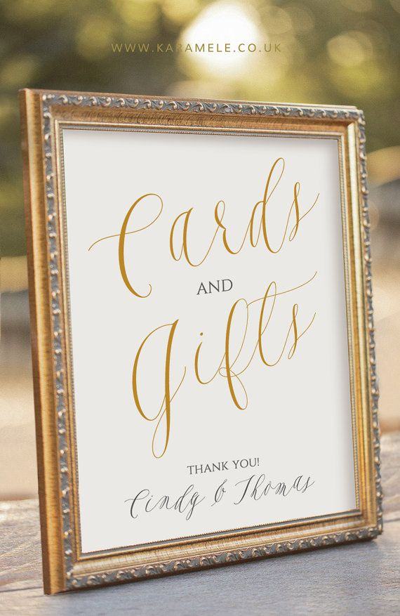 Elegant Printable Cards And Gifts Sign Wedding Reception Sign