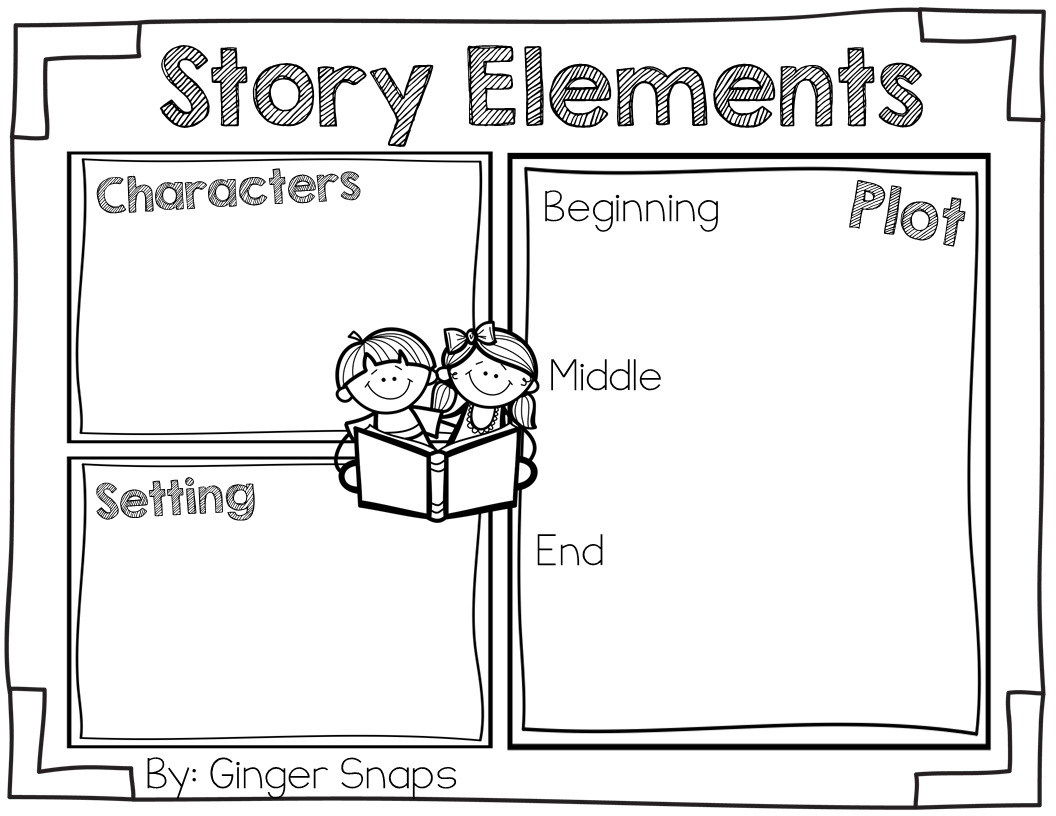 small resolution of Story Elements Freebie (Ginger Snaps)   Story elements kindergarten