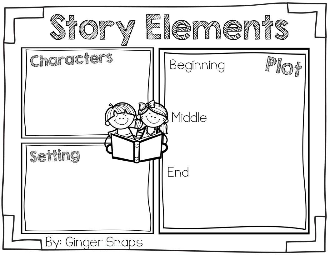 Story Elements Freebie (Ginger Snaps)   Story elements kindergarten [ 816 x 1056 Pixel ]