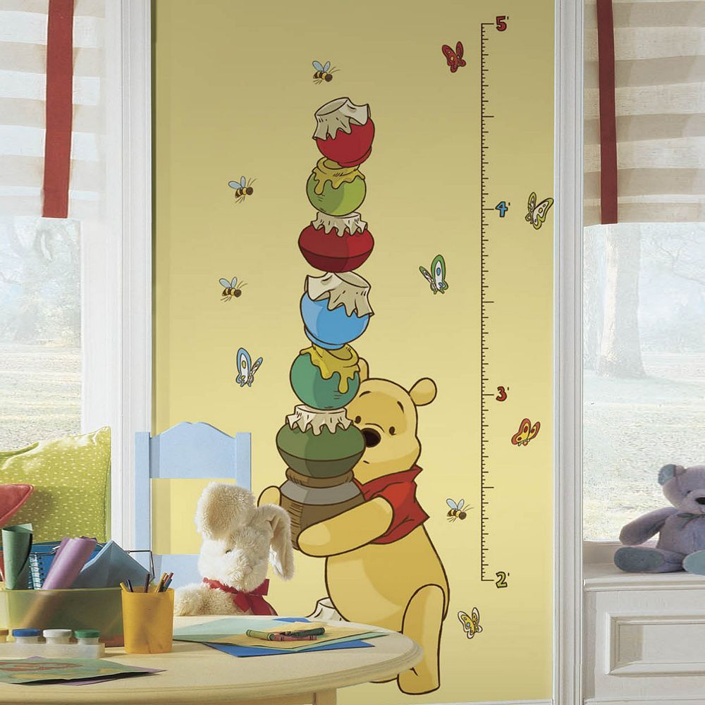RoomMates Disney Winnie the Pooh Growth Chart Peel and Stick Wall ...