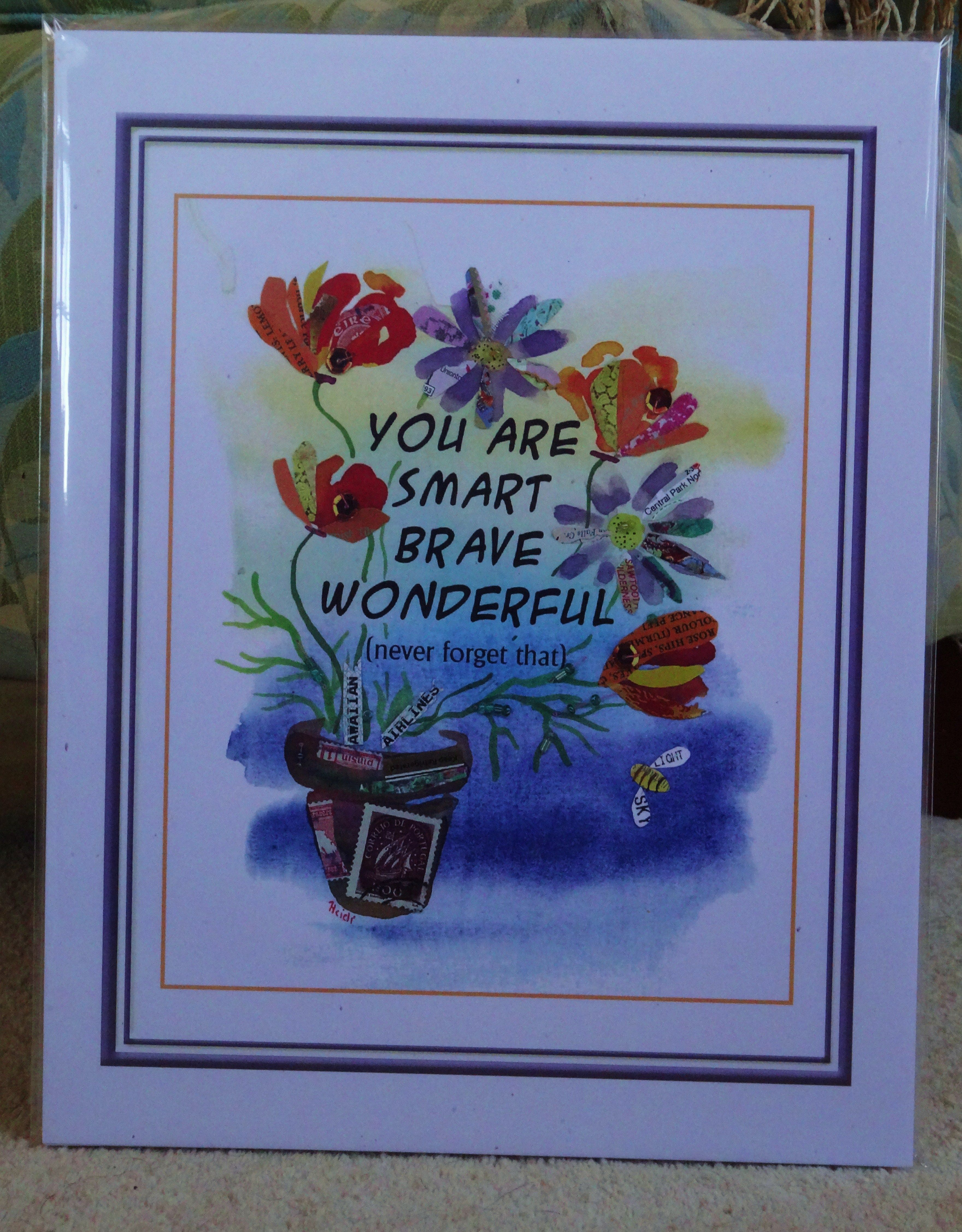 sized for standard 11 x 14 frame (or 8 x 10 if trimmed on first ...